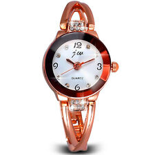 UK Womens Lady Bracelet Wrist Watches Luxury Rhinestone Quartz Watch Free pouch