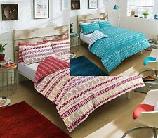 Duvet Cover & Pillowcase Set Modern Bedding Quilt Single Double King Super king