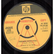 """JACKIE LEE Friends With You 7"""" VINYL UK Pye 1972 Promo B/W Black Country"""