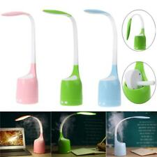 2-In-1 USB Rechargeable LED Desk Table Lamp Bedside Night Light with Humidifier