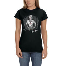 Marilyn Monroe Sexy Cowgirl Wearing Cowboy Hat Country Girl Womens T-Shirt Tee