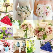 1 Bouquet 5 Heads Artificial Fake Peony Silk Floral Flower Wedding Home Decor