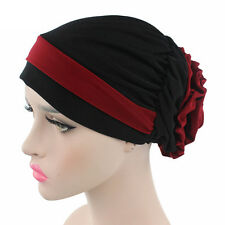Elegant Cancer Chemo Hair Loss Scarves Hat Cotton Turban Head Wrap Alopecia Caps