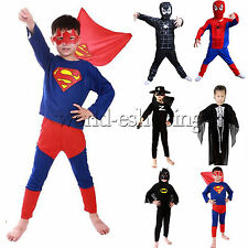 Kids Boys Superhero Spiderman Fancy Dress School Preppy Party Cosplay Costume