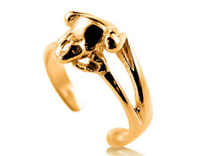 9ct Solid Yellow GOLD Frog 9k Toe Ring