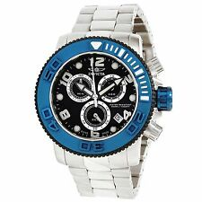 Invicta Mens 12534 Sea Hunter Black Dial  Pro Diver Blue Bezel Chronograph Watch