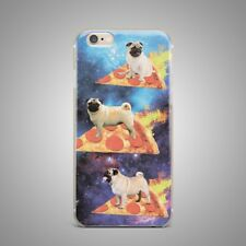 Cute Pug Puppy Dog Space Design TPU Silicone Rubber Clear Case Cover for iPhone