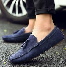 4 Color Mens Faux Suede Casual Slip on Driving Boat Loafer Tassel Shoes#SOFT