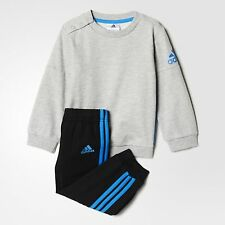adidas boys grey/black infant/baby crew tracksuit. Jogging suit. Various sizes!