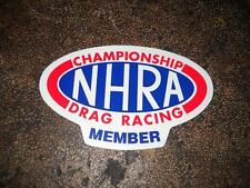 NEW VINTAGE OFFICIAL NHRA CHAMPIONSHIP DRAG RACING MEMBER WINDOW DECAL STICKER