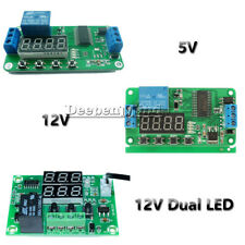 DC 5V 12V Multifunction Self-lock Relay PLC Cycle Timer Module Delay Time Switch