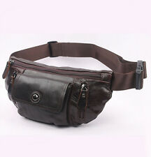 Men Oil Wax Real Leather Cowhide Fanny Waist Pack Outdoor Chest sling bag Wallet