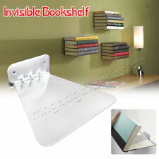 1/2/3pc Conceal Invisible Bookshelf Wall Mounted Floating Book Shelf Storage UK