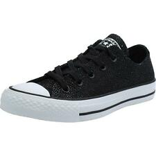 Converse Chuck Taylor All Star Stingray Metallic Black Leather Trainers Shoes