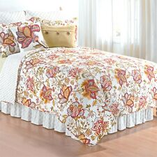 Bethany Sophisticated Floral 3 Pc Quilt Set-Quilt + 2 Shams-Reversible Comforter