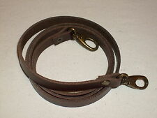 """1/2"""" DARK BROWN LEATHER SHOULDER BAG REPLACEMENT STRAP BRONZE FITTINGS"""
