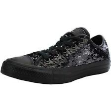 Converse Chuck Taylor All Star Sequin Black Textile Trainers Shoes