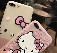 Cute Hello Kitty Silicon Soft Clear Case Phone Back Cover For iPhone 6 6S 7 plus