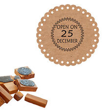 Open On 25th December Festive Christmas Craft Stamp