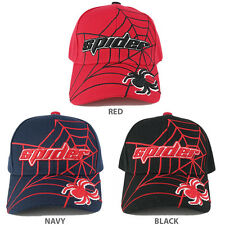 Kids Size Spider Graphic and Text Web Adjustable Baseball Cap - Free Shipping