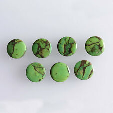 4MM Round Shape, Green Copper Turquoise Calibrated Cabochons AG-228