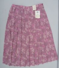 Pink Polyester Floral Honor Millburn at EWM Skirt … size  14  (BNWT)