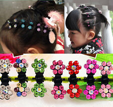Clamps Pin Mini Flower Rhinestone HOT Girls Clips Crystal Hair Sweet 6pcs Claws