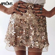 Skirt Mesh Sequin Size Nwt S Mini Sequins Sz New M Line Sequined Party Tulle New