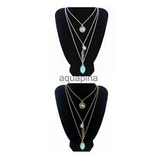 Bohe Charm Jewelry Multilayer Choker Chunky Statement Bib Pendant Chain Necklace