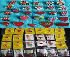 british heart foundation pin badges plus other heart related badges charity