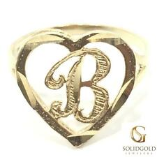 NEW 10K YELLOW GOLD INITIAL HEART RING LADIES 10KT RING I-40