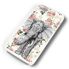 FLORAL AZTEC ELEPHANT RUBBER PHONE CASE COVER FITS IPHONE 4 5 6 7 (#WR)