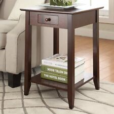 Convenience Concepts American Heritage End Table with Shelf and Drawer