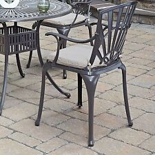 Home Styles Largo Cast Aluminum Patio Dining Chairs with Optional Cushions -