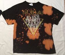New AEROSMITH Let Rock Rule, DEF LEPPARD UK WORLD TOUR Bleached TIE DYE T-SHIRTS