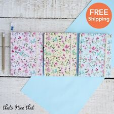 Floral Notebook Fun Gift Sketch Book Journal Diary Note Memo Travel Flowers Pink