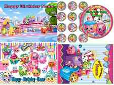 EDIBLE TOPPER SHOPKINS ICING SUGAR SHEET IMAGE CAKE CUPCAKES PARTY DECORATION