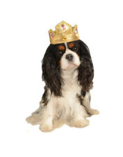 Soft Gold Princess Prince Queen King Crown Tiara Hat For Pet Dog