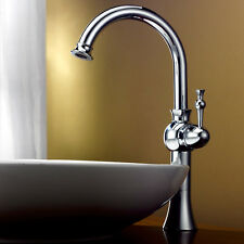 Single Hole One Handle Bathroom Vessel Sink Faucet Mixer Taps in Chrome/Gold