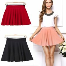 Women High Waist Stretch Skater Mini Skirt Flared Pleated A-Line Short Dress lot
