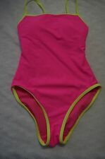 TYR Sport Binded One-Piece Swimsuit (Neon Lime) Size S XL