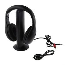 Wireless Headphone Cordless Headset Mic FM Radio Earphone for TV PC iPod