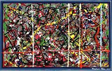 """"""" GAUSSIAN LOGIC """" - Abstract-Expressionist Painting by British artist"""