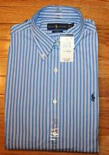 NWT Polo Ralph Lauren Mens Buttondown Dress Shirt Slim Fit Striped Pony Logo *2K