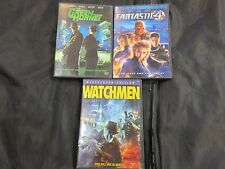 THE OTHER SUPERHEROS DVD LOT-Green Hornet,Fantastic 4,Watchmen-USED