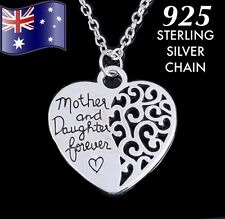 Mother & Daughter Forever Love Heart Pendant Necklace Mum Mothers Day Gift Her