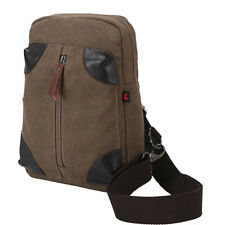 Men Women Sling Chest Bag Canvas Unbalance Messenger Shoulder Cross Body Pack
