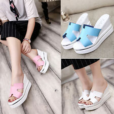 New Fashion womens wedge sandals Platform Heel mules comfort casual Summer shoes