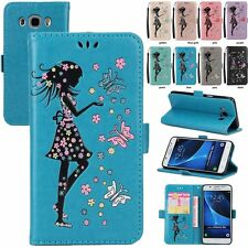 Lovely Girl Flip Leather Wallet Stand Case Cover For Samsung GALAXY S7 S8+J3 A5