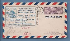 R.W. DUFF & G.H. MILLER: 1931 COVER SIGNED BY WWI RAF & AIR MAIL PILOTS!